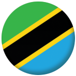 Tanzania Country Flag 58mm Button Badge